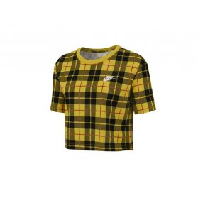 Tricou Nike W NSW TEE FUTURA PLAID CROP