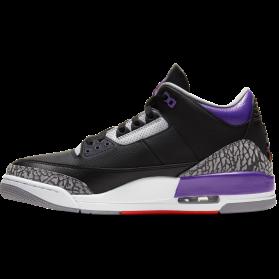 Pantofi sport AIR JORDAN 3 RETRO Black Court Purple Barbati