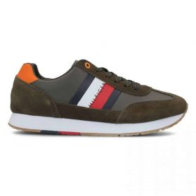Pantofi sport Tommy Hilfiger CORPORATE LEATHER  FLAG RUNNER